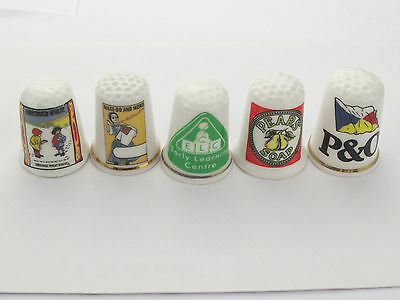 Thimbles  - 5 X Advertising Thimbles As Per Pictures - Lots More Available Lot 4