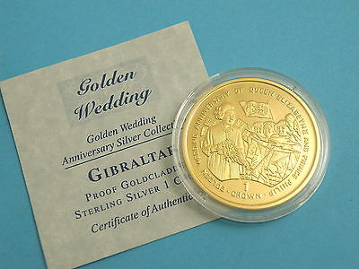 Gibraltar - 1997 Gold Clad Silver Proof Crown Coin - Walkabout
