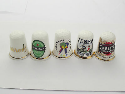Thimbles  - 5 X Advertising Thimbles As Per Pictures - Lots More Available Lot 5