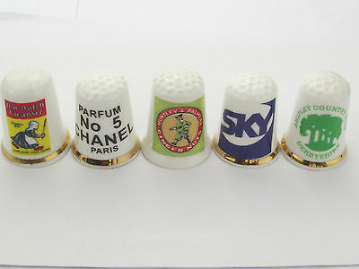 Thimbles  - 5 X Advertising Thimbles As Per Pictures - Lots More Available Lot 6