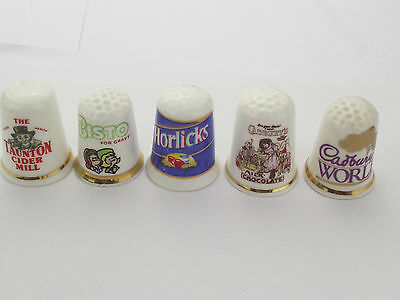 Thimbles  - 5 X Advertising Thimbles As Per Pictures - Lots More Available Lot 7