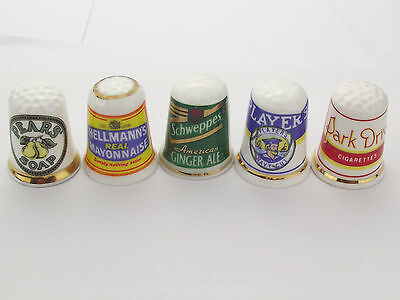 Thimbles  - 5 X Advertising Thimbles As Per Pictures - Lots More Available Lot12
