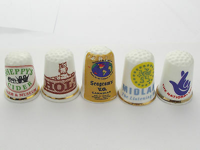 Thimbles  - 5 X Advertising Thimbles As Per Pictures - Lots More Available Lot15
