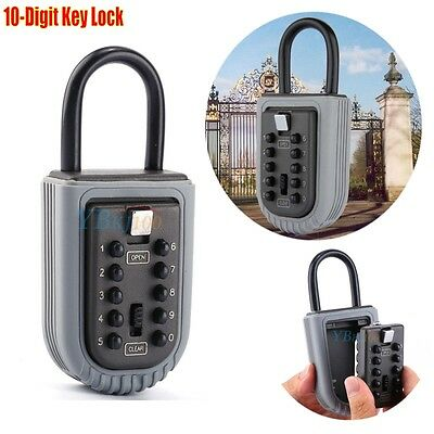 New Portable Key Safe Box Combination Security Keys Holder Lock Home Outdoor