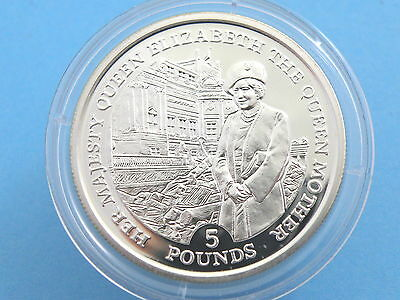 GIBRALTAR - 1995 SILVER PROOF £5 CROWN COIN - Lady of the Century