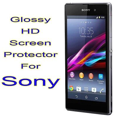 2x New Ultra Glossy Clear Front LCD Screen Protector Film for Sony Xperia Phone