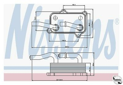 NISSENS Oil Cooler OE Quality - 90599