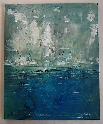 """A Modernist Oil Painting """"seascape"""" - Signed"""