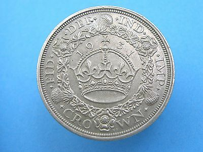 1931 King George V SILVER PROOF 'WREATH' CROWN COIN - Scarce High Value Coin