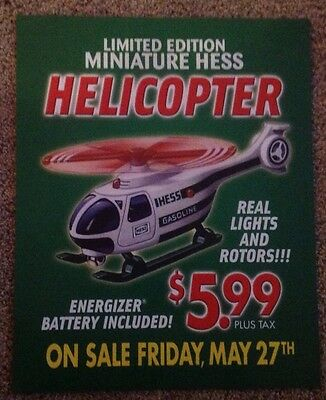 2005 Hess Toy Truck Mini Toy Helicopter Advertising Poster sign