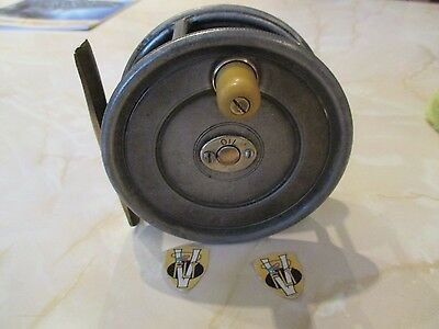 Rare Vintage Hardy Unqua 4 Inch Wide Alloy Salmon Fly Reel