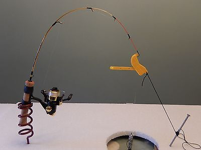 Ice Fishing Tip Ups  -  3 Quicksets for $10  Works with any rod or rod holder