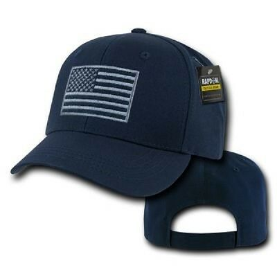 RapDom Tactical Embroidered USA Operator Cap Mütze w US Flagge Navy Blue