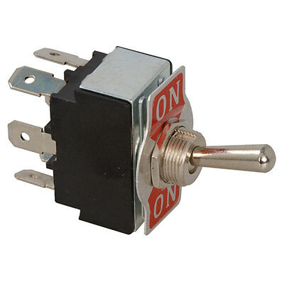 Toggle Switch (On-On) Double Pole Double Throw Lever Quick Connect 15 Amp 2 pcs