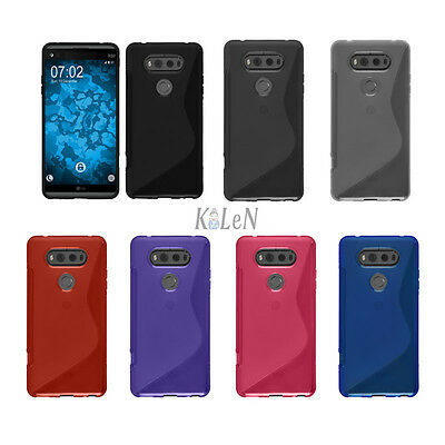 For LG V20 Rubber Soft S-Line Gel TPU Silicone Case Skin Cover
