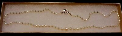 Blue Nile Classic Akoya Cultured Pearl Necklace with Gold Clasp