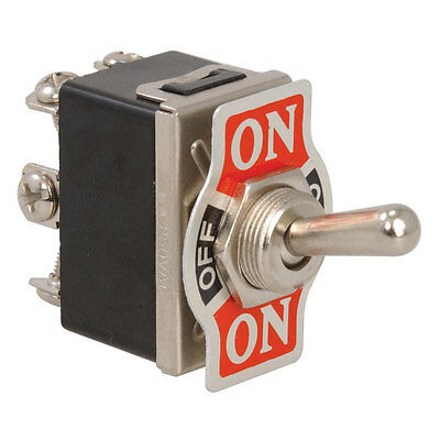 Toggle Switch Double Pole Double Throw (On-Off-On) M3 Screw Round 10 Amps 2 pcs