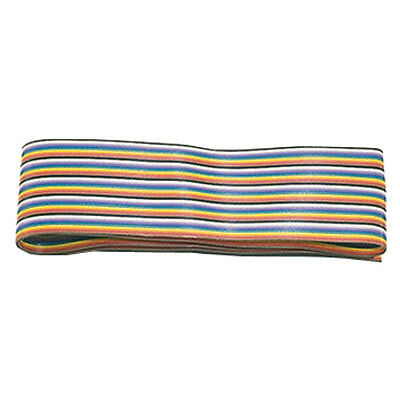 Cable Ribbon 25 Conductor Rainbow 28AWG 100 Feet Flat