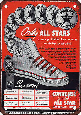 1949 Converse All Stars Vintage Look Reproduction Metal Sign