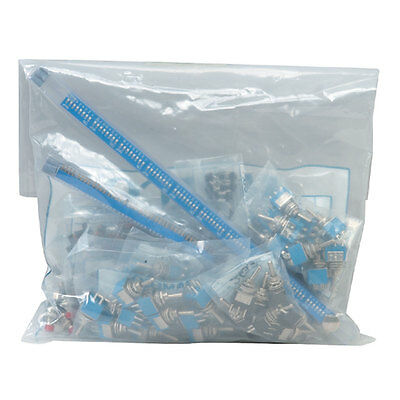 180 Piece Switch Assortment with Component Cabinet - Slide Tactile DIP Pushbutto