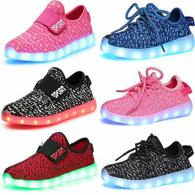 Children Kids Boys/Girls Casual Luminous Sneakers Shoes Led Light Shoes 7 Colors