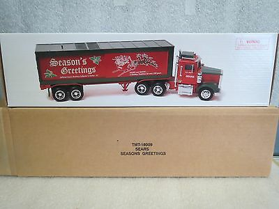 SEARS 1998 SEASON GREETINGS 18-WHEEL BOX TRAILER TRUCK-Credit Card Spec. Issue