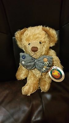 """Brewster 11"""" Effanbee Bear by Bear Essentials  Fully Jointed Mohair 1998"""