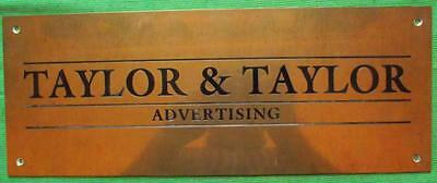 Genuine Brass Vintage Antique Sign Plaque : Taylor & Taylor Advertising