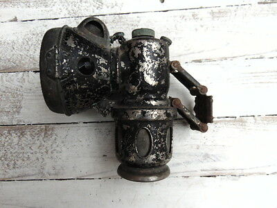 Antique Carbide Acetylene Bicycle Cycle Lamp Powell Hanmer Chieftain 1915