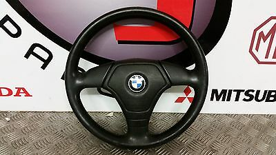 Bmw 3 Series E36 Leather Steering Wheel With Airbag 3 Spoke