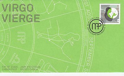 Virgo The Virgin 2012 Fdc Canada Post First Day Of Issue,mint.