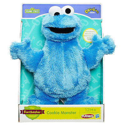 "NEW Sesame Street Furchester Hotel Cookie Monster 11"" Plush Soft Toy Playskool"