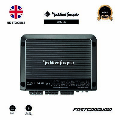 Rockford Fosgate Prime R400-4D 400 Watt Class-D Full-Range 4-Channel Amplifier