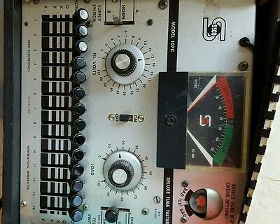 Vintage Seco Tube Tester Model 107 With Manual