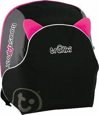 Trunki Boostapak Car Booster Seat - Unique fold-out - H36, W18, D40cm - Pink
