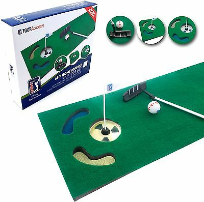 PGA Tour 6ft Putting Mat with Collapsible Putter and DVD -From Argos on ebay