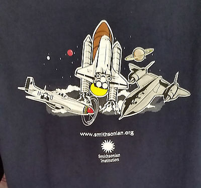 VTG Smithsonian Institution National Air Space Museum Aerospace T-Shirt Mens XL