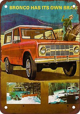 1967 Ford Bronco Vintage Look Reproduction Metal Sign
