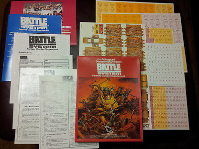 AD&D Battle System Fantasy Combat Supplement by TSR unpunched