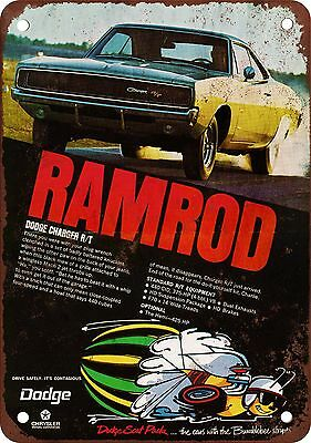 1968 Dodge Charger Ramrod Vintage Look Reproduction Metal Sign