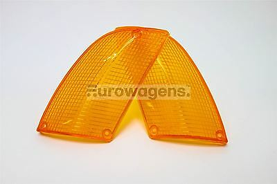 BMW 6 Series E24 76-89 Orange Front Repeater Indicator Lenses Pair Set N/S O/S