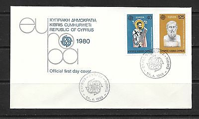 Cyprus 1980 Europa CEPT  First Day Cover