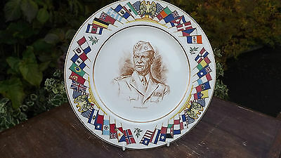 General Eisenhower  World War 2 Plate USA Allied Nations Commemorative Series