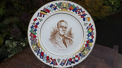 Franklin D Roosevelt  World War 2 Plate USA Allied Nations Commemorative Series