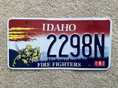 "IDAHO  ""Firefighter""  REPLICA license plate"