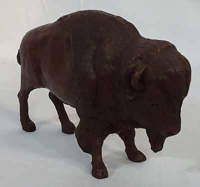 Millburn 1988 Red Mill Mfg Hand Crafted Carved Buffalo