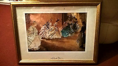 Framed And Glazed Russell Flint Print- The End Of The Opperetta