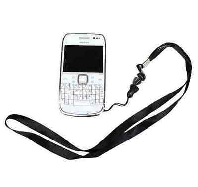 Black Lanyard / Neck Strap for Mobile Phone And MP3 Player Keys Travelling Hook