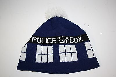 Doctor Who TARDIS Pom Beanie Stocking Hat Licensed
