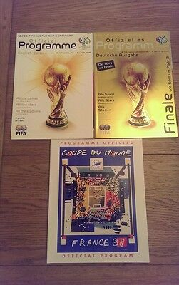 World Cup Official Programmes 1 x France 1998 + 2 x Germany 2006 German/English